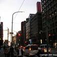 夕暮れの街並み