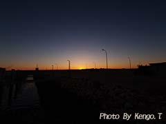 2005.09.02(18:12) 夕焼け(西オーストラリア エクスマウス 港)