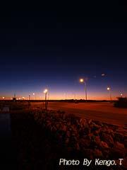 2005.09.02(18:40) 夜景(西オーストラリア エクスマウス 港)